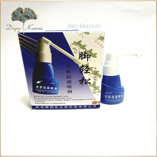 Китайский антибактериальный спрей от запаха и потливости ног Shihao - Jingsong