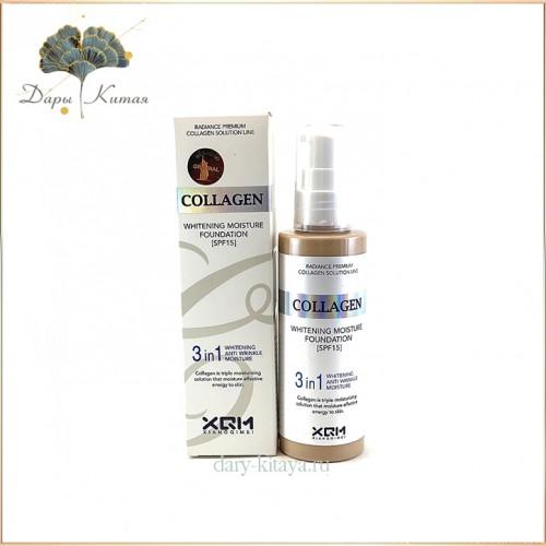 Тональный крем с коллагеном 3 в 1 Enough Collagen Whitening Moisture Foundation SPF 15