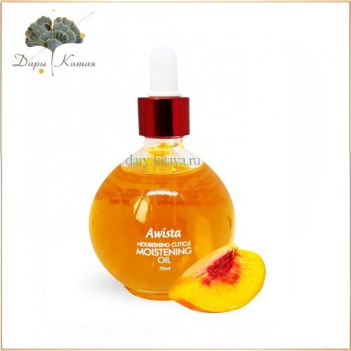 Масло для ногтей и кутикулы с пипеткой Awista professional с экстрактом персика