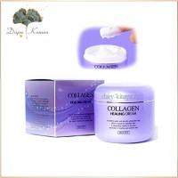 Питательный крем с коллагеном Jigott collagen healing cream
