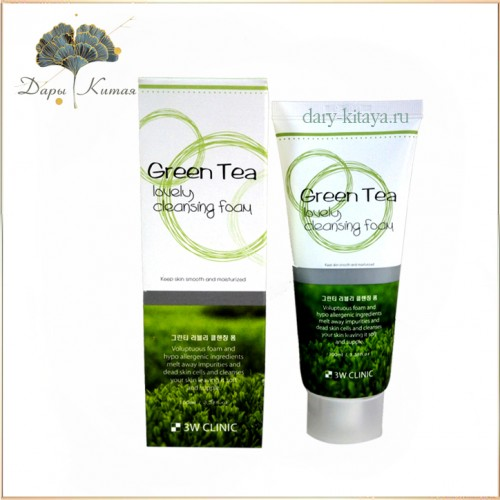 Пенка для умывания Зеленый чай 3W Clinic Green Tea Lovely Cleansing Foam