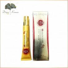 Крем для области вокруг глаз с гиалуроновой кислотой и эфирным маслом розы (от тёмных кругов и морщин).